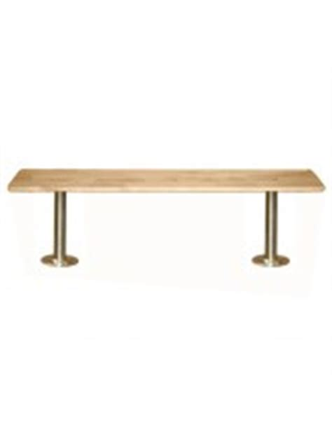 locker room benches free standing 9 1 2 quot wide wood locker room benches with free standing pedestals