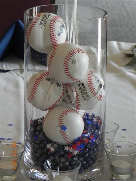 decorations at baseball banquet baseball
