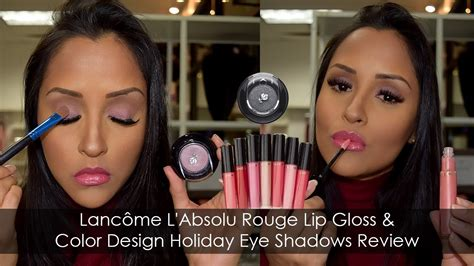 absolute watchmen review youtube lancome l absolu rouge lip gloss color design holiday eyeshadow review youtube
