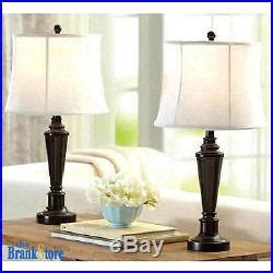 traditional bedroom lamps table lamp set 2 traditional vintage desk lamps pair 13569 | Table Lamp Set 2 Traditional Vintage Desk Lamps Pair Nightstand Bedroom Light 02 kruw