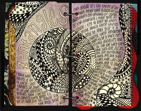 zentangle pattern journal zentangles visual journal
