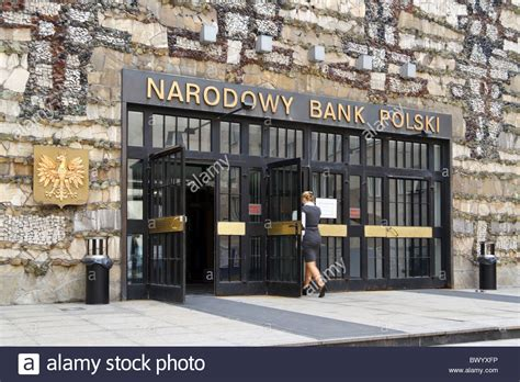 national bank of poland entrance to the national bank of poland warsaw poland