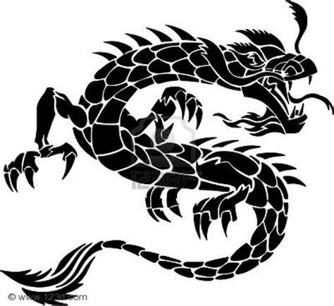 tribal tattoo dragon vector illustration free tattoo designs in vector format
