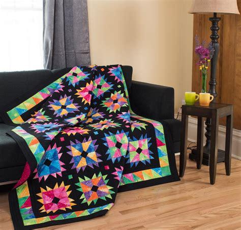 Benartex Quilt Kits by Benartex Fossil Fern Fabric Flower Power Pattern Quilt Kit On Craftsy Supplies