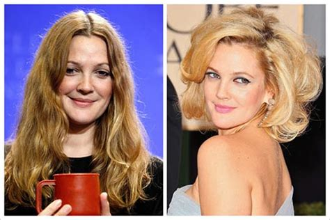 age reducing makeovers drew barrymore plastic surgery before and after botox and
