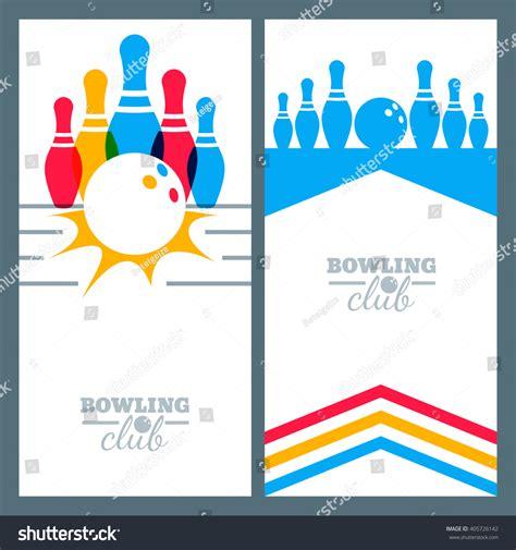 poster design elements vector set bowling banner backgrounds poster flyer stock vector
