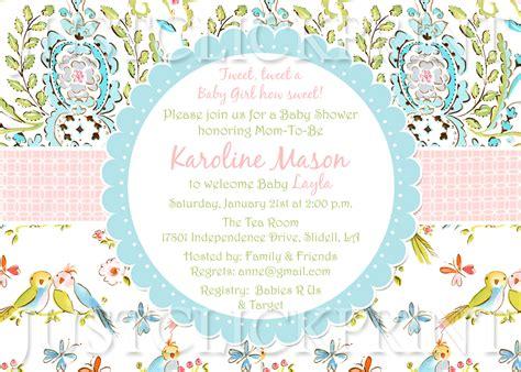 Baby Shower Bird Theme Invitations by Tweet Birds Baby Shower Invitation Printable