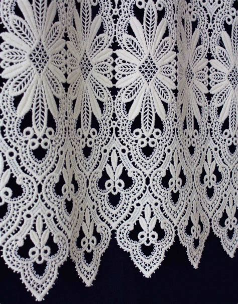 Macrame Lace - macrame lace cafe curtain valance curtain