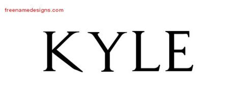 kyle tattoo font kyle archives free name designs