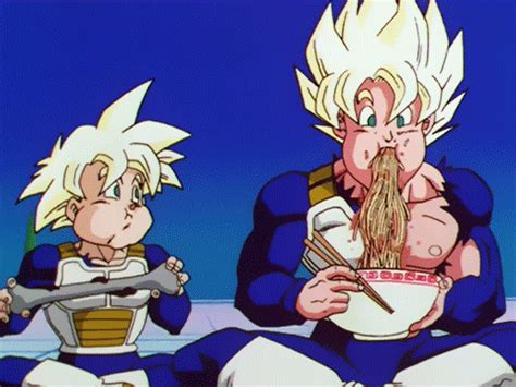 imagenes de goku troll dragon ball z eating gif find share on giphy