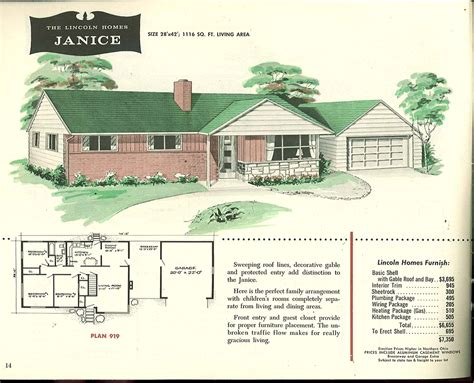 Cape Cod House Floor Plans Factory Built Houses 28 Pages Of Lincoln Homes From 1955