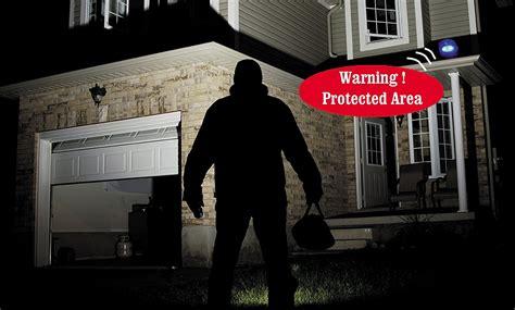 outdoor motion sensor light with alarm security monitors displays solar powered motion sensor