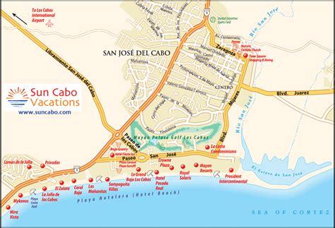 san jose cabo map mexico take a mini