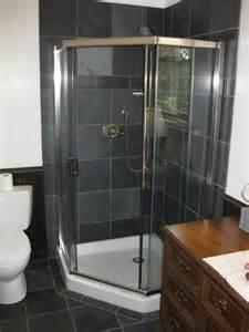 Back gt gallery for gt black slate tile shower