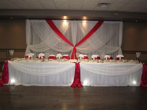 red and white wedding   Set The Mood Decor