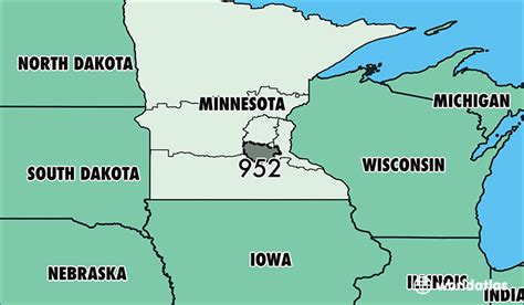 us area codes minnesota where is area code 952 map of area code 952