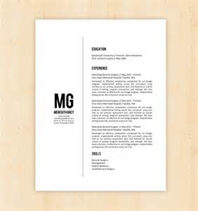 resume template cv template the meredith grey by phdpress
