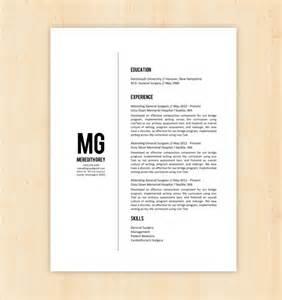 Resume template cv template the meredith grey resume design