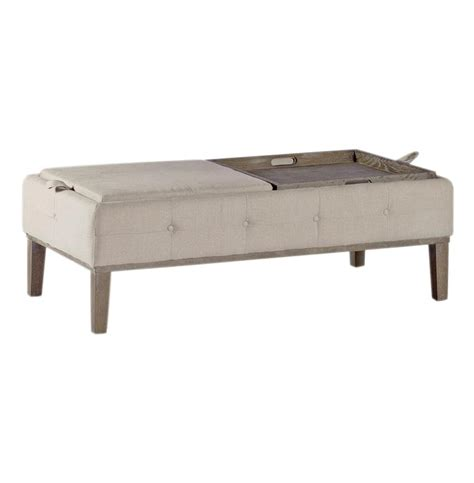 Ottoman Coffee Table Tray Mollie Linen Tufted Storage Tray Table Coffee Table Ottoman Kathy Kuo Home