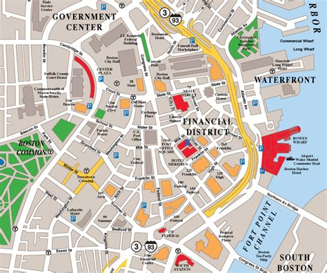 chicago financial district map maps map boston