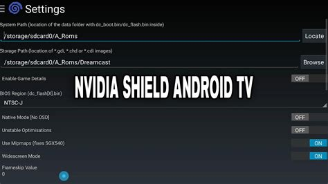 reicast apk reicast emulator settings configuration nvidia shield android tv 2015 1080p