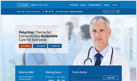 polyclinic medical wordpress theme show wp