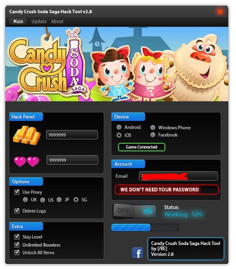 crush hack apk crush soda saga hack tool no survey no password new 2015 hack no surveys