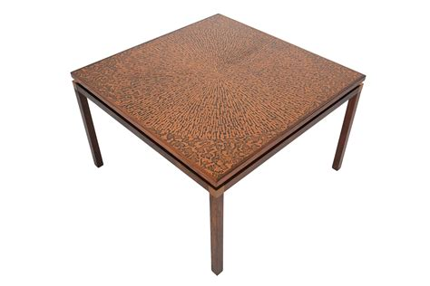 Modern Square Coffee Table Modern Rosewood Copper Square Coffee Table Mid Century Mobler