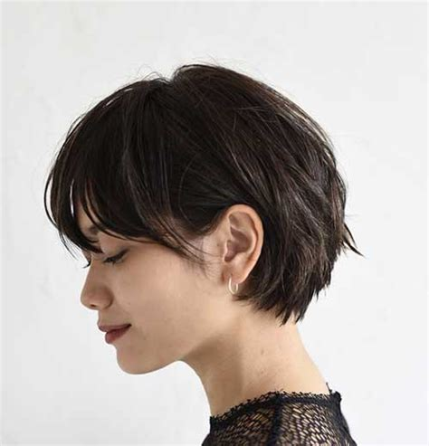 hair cut with a defined point in the back 15 wonderful brown short hairstyles crazyforus
