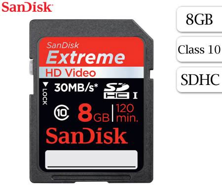 Sandisk Sdhc 8gb Class 10 free shipping sandisk 8gb hd sdhc card