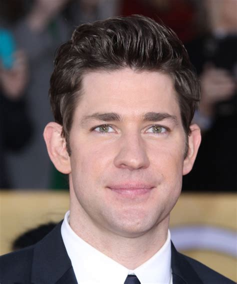john krasinski haircut john krasinki short straight formal hairstyle dark