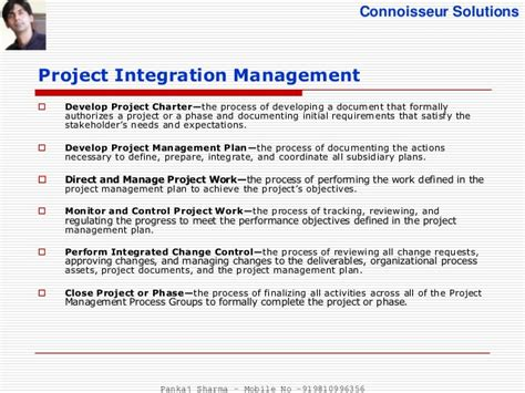 project integration management plan template project integration management