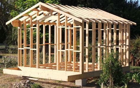 autoconstruction garage ossature bois autoconstruction abri de jardin ou chalet en ossature bois