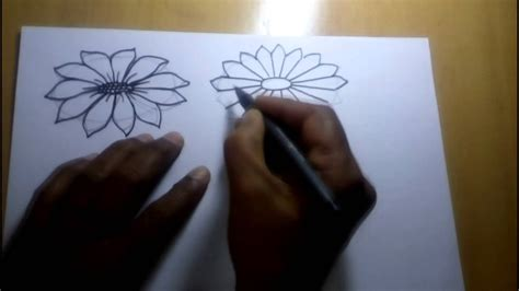 d tutorial drawing tutorial how to draw simple flower sketch for kids