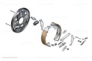 Automotive Drum Brake System Car Brake Illustrations