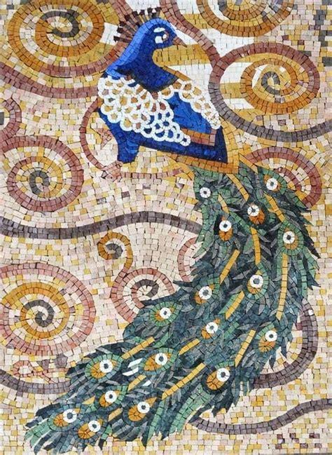 Mermaid Wall Murals peacock mosaic design mosaic art mosaic pinterest