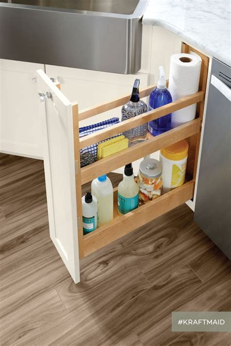 Cleaning Supplies Cabinet by This Pull Out Simplifies The Search For The Cleaning
