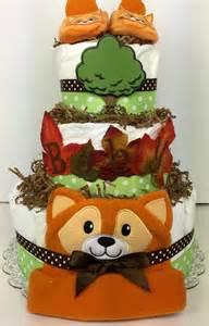 Nautical Theme Diaper Cake - woodland creatures diaper cake baby shower centerpiece autumn
