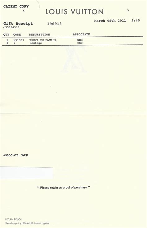 Louis Vuitton Don T Do Receipt Card Envelopes Page 5 Purseforum Louis Vuitton Receipt Template Free