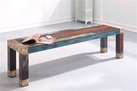 esszimmertisch mit sitzbank tischgruppe punjab akazie metall esstisch sitzbank 4x