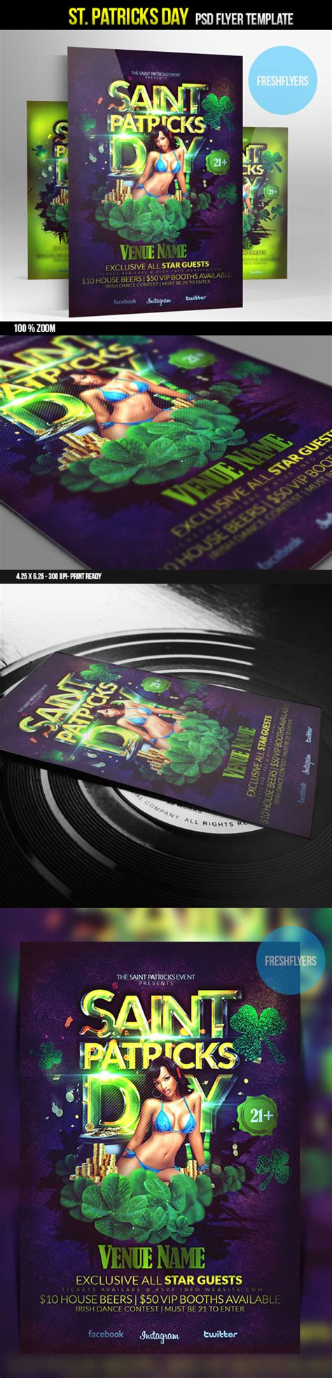 St Patrick S Day Psd Party Flyer Template By Imperialflyers On Deviantart St Photoshop Template