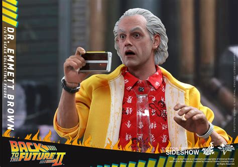 back to the back to the future dr emmett brown sixth scale figure by