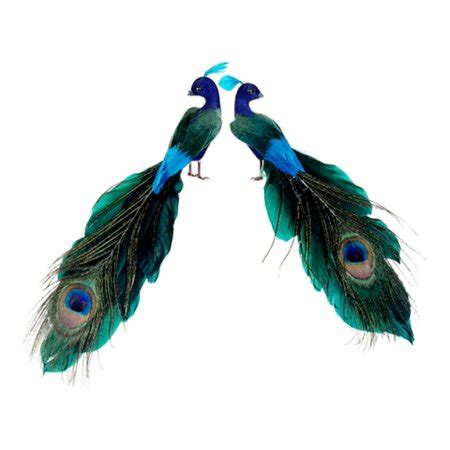 peacock christmas ornaments cheap set of 2 regal peacock feathered peacock ornaments 1 25 quot walmart