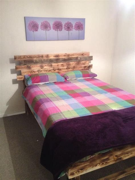 palette headboard diy pallet bed with headboard pallets bed with