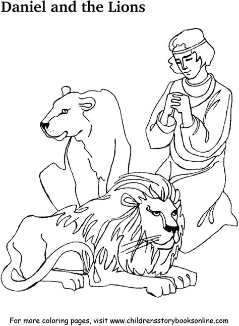 printable coloring pages daniel and the lions den daniel the lions den coloring page az coloring pages