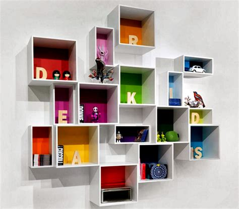 Rak Dinding Kotak Unik kumpulan gambar rak buku dinding minimalis kreatif dan