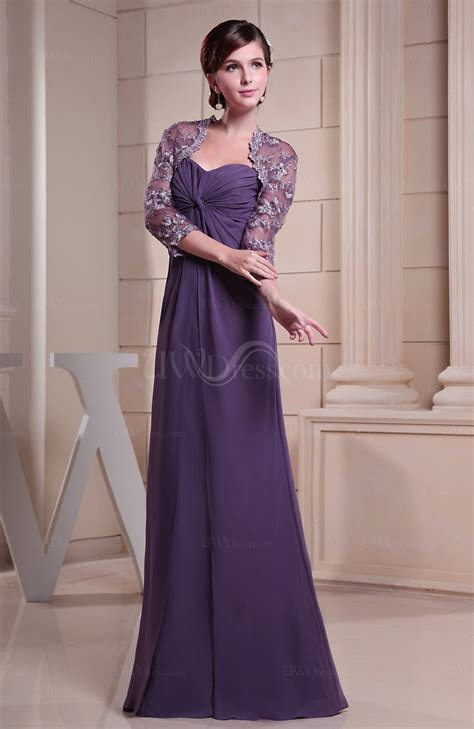 Alensa Purple purple casual sheath sweetheart backless chiffon