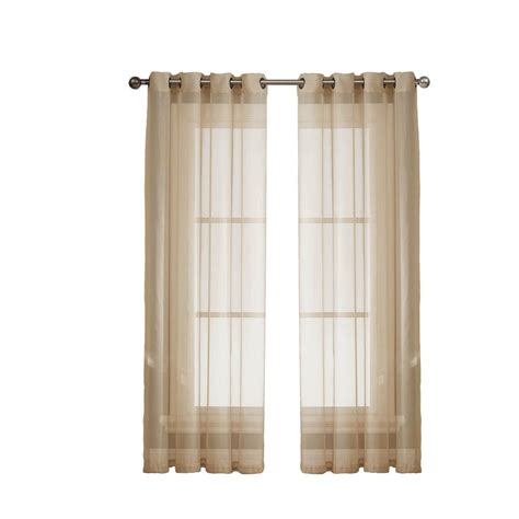 extra wide curtain panels grommet window elements diamond sheer voile taupe grommet extra