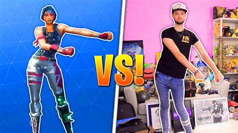 fortnite youtuber names fortnite dances real challenge