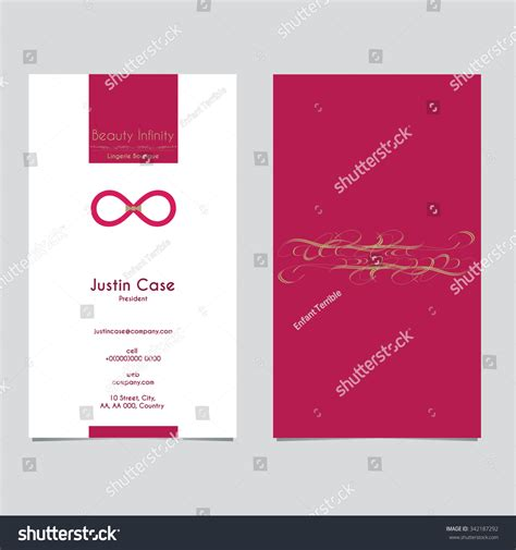 infinity card template abstract infinity sign shape bra vector stock vector